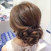 キャバクラ派遣のヘアセットイメージ