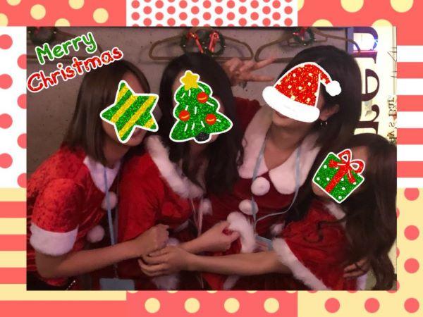 クリスマスの中洲派遣キャバ嬢たち