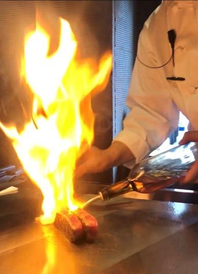 中洲の鉄板焼き「みやちく」