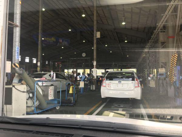 中洲派遣ハピネスの送迎車の車検2